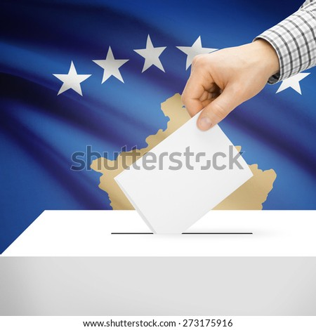 Ballot box with national flag on background series - Kosovo