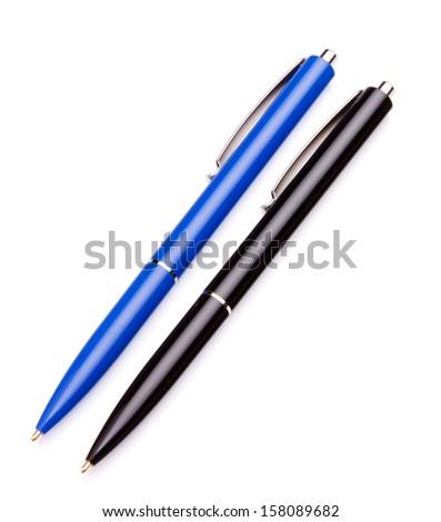 Ballpoint pen isolated on white background cutout - stock photo