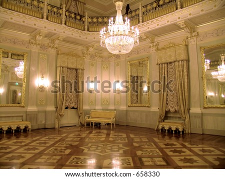 ballroom in Venice - stock photo