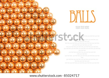 Balls. A place for your text. - stock photo