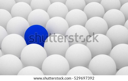 Balls, Difference, Blue and White Balls, Render, Creativity, 3D Render