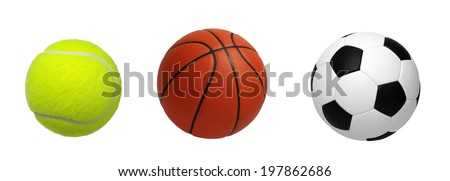 balls isolated on a white background - stock photo