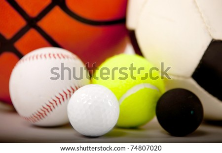 Balls of different sports ? isolated over a white background - stock photo
