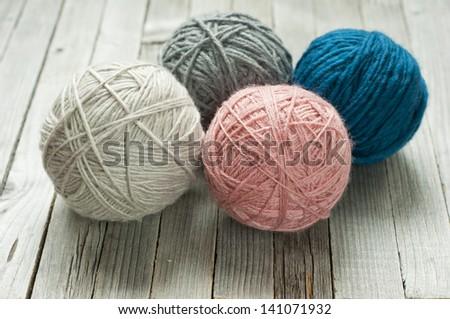 balls of wool - stock photo