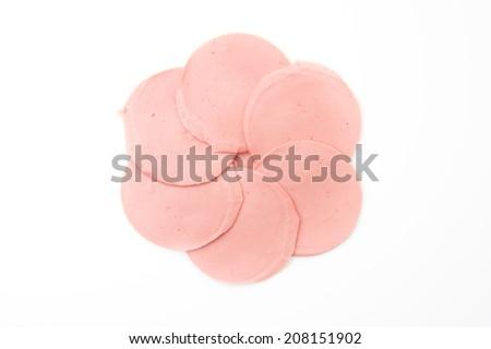 baloney sausage - stock photo