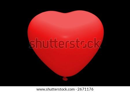 Baloon isolated - stock photo
