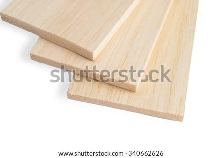 Balsa plank - stock photo