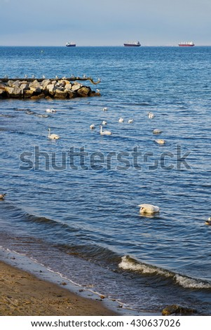 baltic nordic sea - stock photo