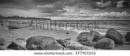 Baltic Sea after storm - stock photo