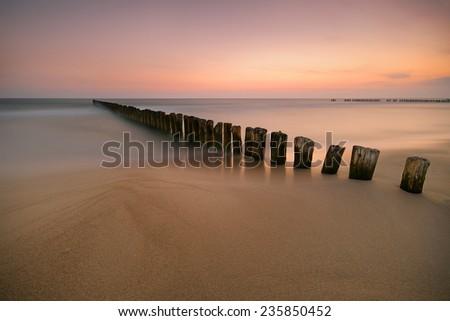 Baltic sea at beautiful landscape  - stock photo