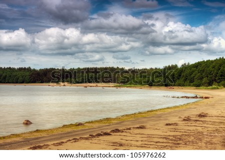 Baltic sea coast near the Vyborg, Russia