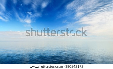 Baltic sea in beautiful calm weather