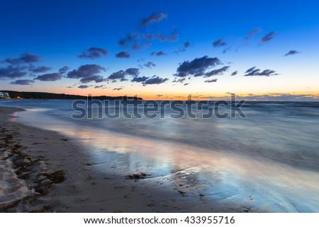 Baltic sea in Sopot at dawn, Poland - stock photo
