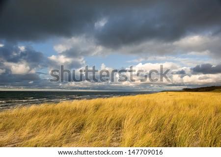 Baltic Sea landscape in autumn - stock photo
