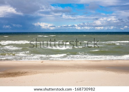 Baltic sea near Curonian Spit