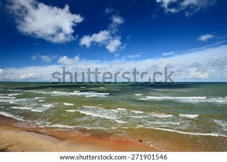 Baltic sea shore in Latvia - stock photo