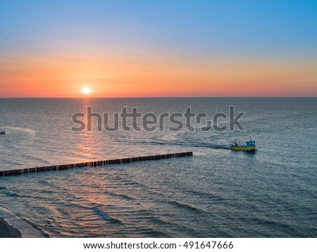 Baltic sea, sunset