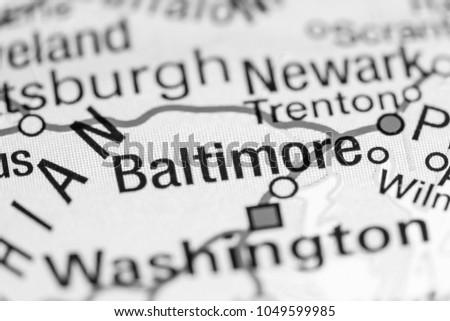 Baltimore Maryland Usa On Map Stock Photo 1049599985 Shutterstock