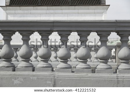 Balustrade. architectural detail. - stock photo