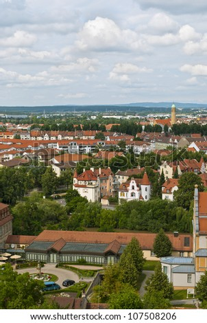Bamberg, city in Bavaria, Germany, located in Upper Franconia. View from Michaelsberg. - stock photo