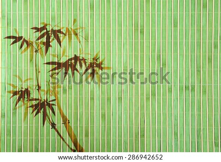 bamboo Background great for any project. frame of bamboo-leaves background. - stock photo