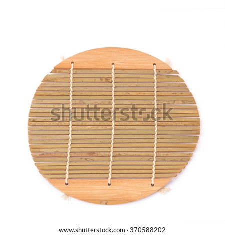 Bamboo brown straw  isolated over white background - stock photo
