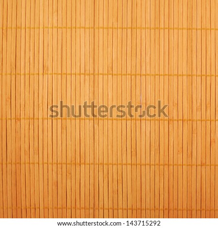 Bamboo brown straw mat as abstract texture background composition, top view above - stock photo