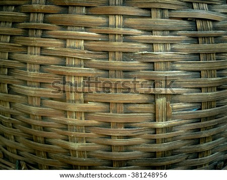 Bamboo craft texture background.