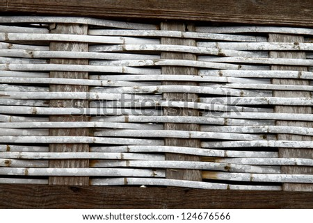 Bamboo craft wall texture