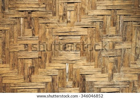 Bamboo craft woven texture background.