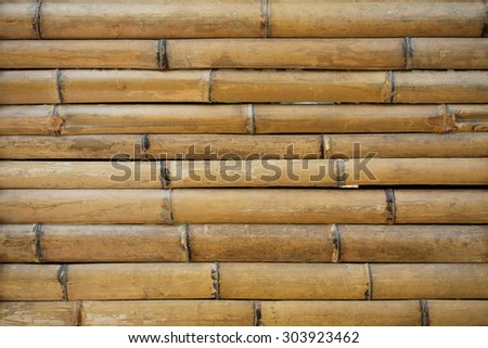 Bamboo fence background, Close-up.