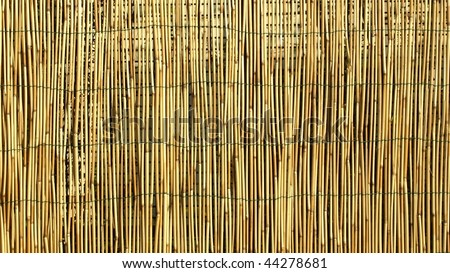 Bamboo fence or wall background - (16:9 ratio)