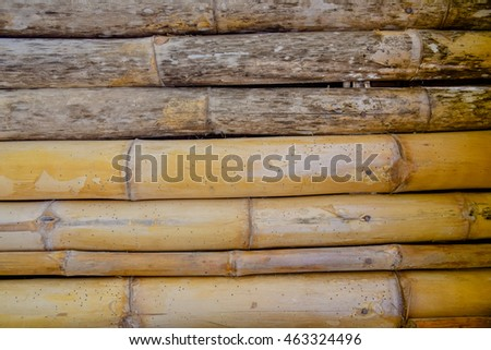 Bamboo fence wall