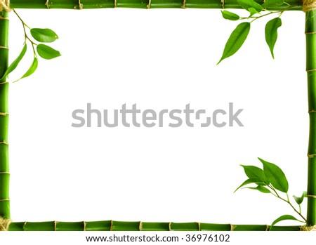 bamboo frame - stock photo
