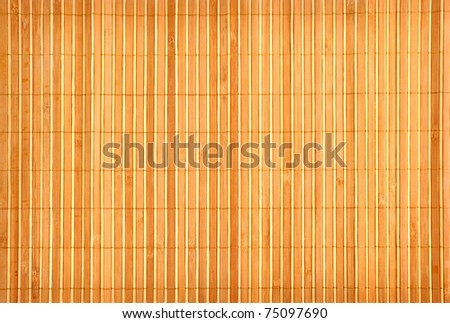 Bamboo Mat - stock photo