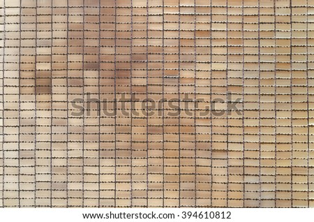 Bamboo mat background. The asian mat from yellow bamboo