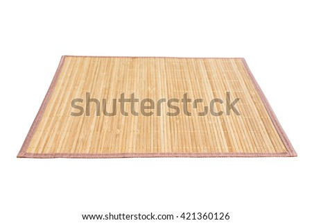 Bamboo mat isolated on white background