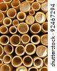 Bamboo pipes. - stock photo