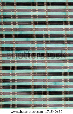 bamboo placemat straw wood background natural decor - stock photo