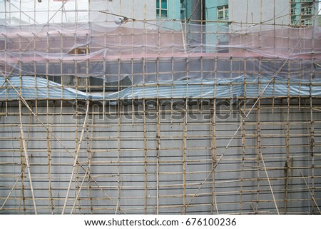 Bamboo Scaffolds for construction job