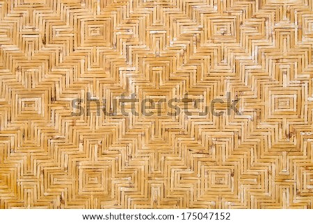 Bamboo twigged ceiling texture - stock photo