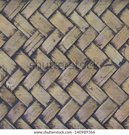 Bamboo weave pattern with wood frame