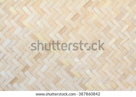 Bamboo weave texture pattern or bamboo weave background from handmade crafts basket for design with copy space for text or image. - stock photo