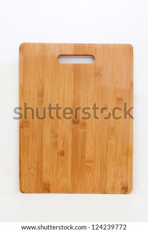 Bamboo Wooden Cutting Board Isolated - stock photo