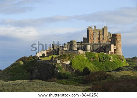 Bamburgh Castle early evening