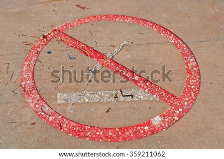 Ban dips, signal, prohibition, interdiction, Higgs beach pier, sea, Key West, Keys, Cayo Hueso, Monroe County, Florida, Sunshine State, coast, Gulf of Mexico, Atlantic Ocean, United States of America - stock photo