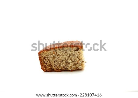 Banana bread isolated on a white background - stock photo