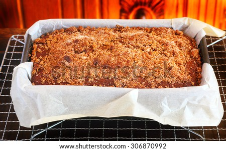 Banana bread with cinnamon topping to serve for dessert at your next holiday feast - stock photo