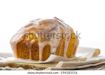 Banana cake baked to perfection topped with blended honey and sugar - stock photo