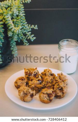 Banana Muffins And Milk